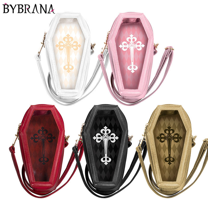 Bybrana BJD Doll Accessories 1/8 1/12 Doll Photography Props Roman Style Coffin Type Travelling Bag Five Colors