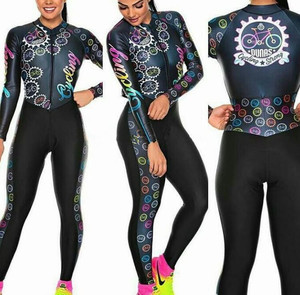 Women's Long sleeve Pro Team Triathlon Suit Cycling Jersey Skinsuit Jumpsuit Maillot Cycling Ropa ciclismo set pink gel