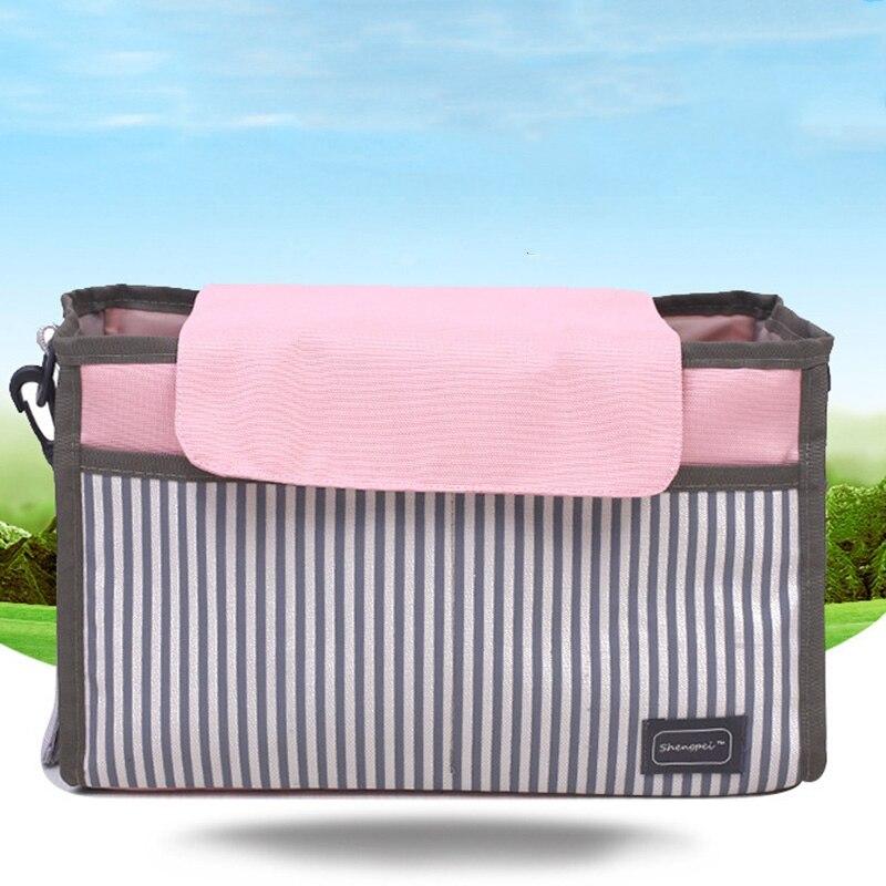 Baby Stroller Organizer Carrying Bag Pram Accessories Storage Crib Organizer Toy Diaper Pocket