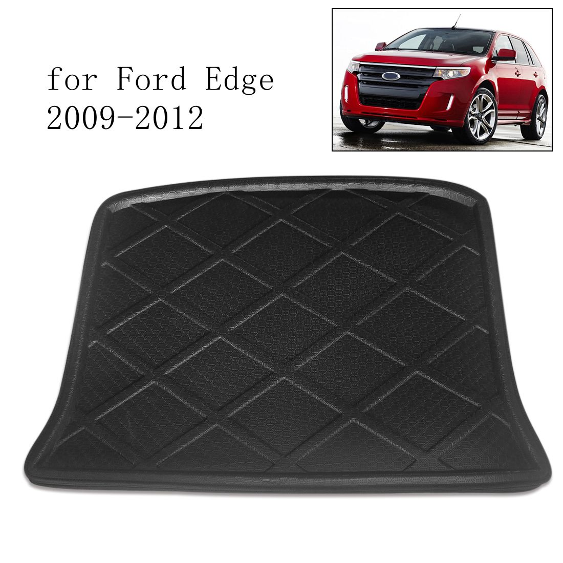 Image 3 - UXCELL Random Send PE+EVA Foam Black Rear Trunk Tray Boot Liner Cargo Car Floor Mat for Ford Edge 2007 TO 2018    -