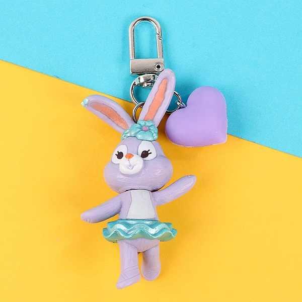 2019 nueva llegada 3D conejo cub llavero lindo llavero para mujeres niñas niños llavero de dibujos animados muñeca llavero coche llavero arte regalos