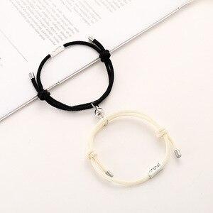 2020 Hot Magnet Bracelet Couple Handmade Adjustable Rope Matching Braslet Infinite Love Pair Braclet Lucky Red Brazalete Gift