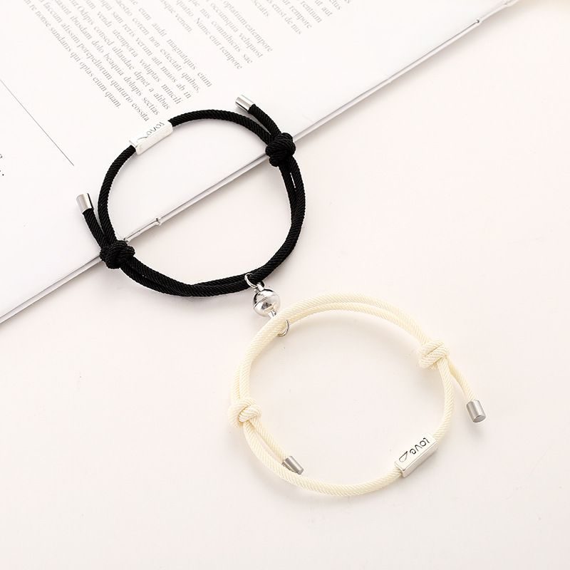 2021 Hot Magnet Bracelet Couple Handmade Adjustable Rope Matching Braslet Infinite Love Pair Braclet Lucky Red Brazalete Gift