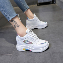 Купить с кэшбэком Shoes Woman Designer Sneakers Casual Shoes Height Increasing Platform Shoes Ladies Trainers femme Walking Shoes Vulcanized Shoes