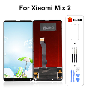 Image 1 - For XiaoMi Mix 2 LCD Display with Touch Screen Digitizer For XiaoMi mix 2 Display Mi Mix 2 Pantalla Screen Free Shipping