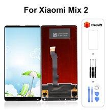 สำหรับXiaoMi Mix 2 จอแสดงผลLCD Touch Screen DigitizerสำหรับXiaoMi Mix 2 จอแสดงผลMi Mix 2 Pantallaหน้าจอจัดส่งฟรี
