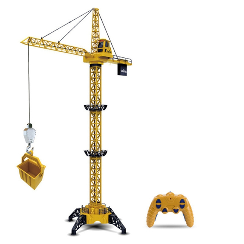 FBIL-Wireless Remote Control Truck Toy Sitong Big Crane Crane With Light Eighty Heavy Construction Model Toy