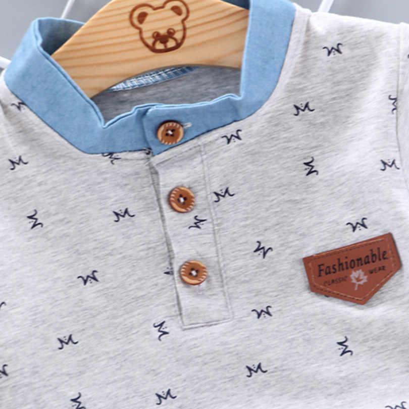 Drukuj koszulka Polo z krótkim rękawem koszule letnie dzieci szkolni chłopcy dziewczęta bawełniane koszulki z klapą urodziny bluzka wyjściowa YQJM02