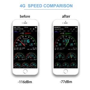 Image 3 - Lintratek tribanda B1 + B3 + B7 3G UMTS 2100mhz GSM 4G LTE 1800mhz 2600mhz LCD telefon komórkowy wzmacniacz sygnału gsm