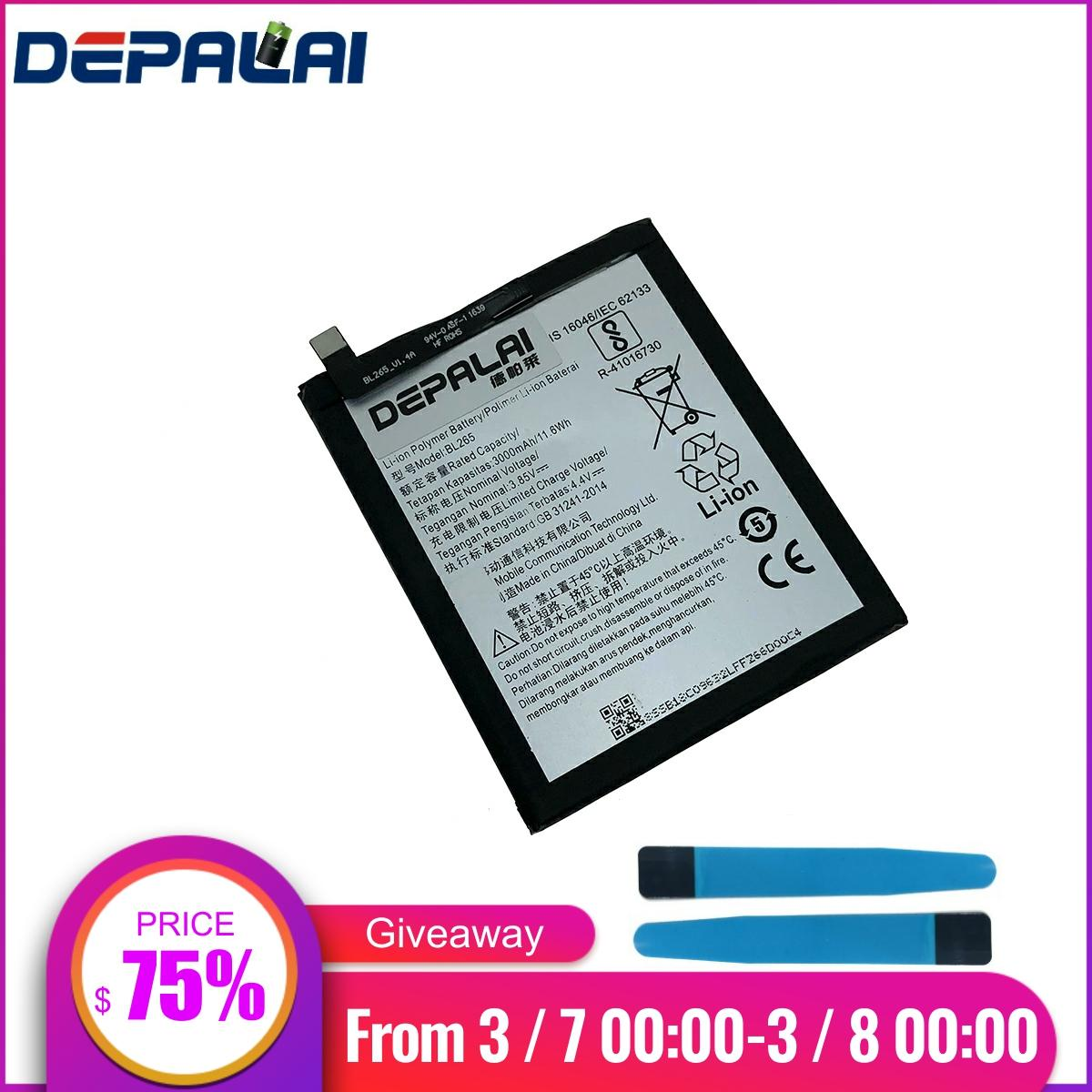 BL265 For Lenovo XT1662 Battery For MOTO M XT1662 XT1663 Battery 3000mAh Batterie