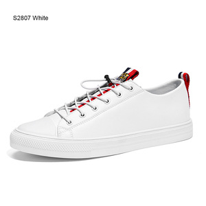 Image 5 - SUROM 2019 אביב חדש גברים נעליים יומיומיות לנשימה ללבוש עמיד נעלי נוח קיץ לבן עגול הבוהן תחרה עד שטוח Snekaers