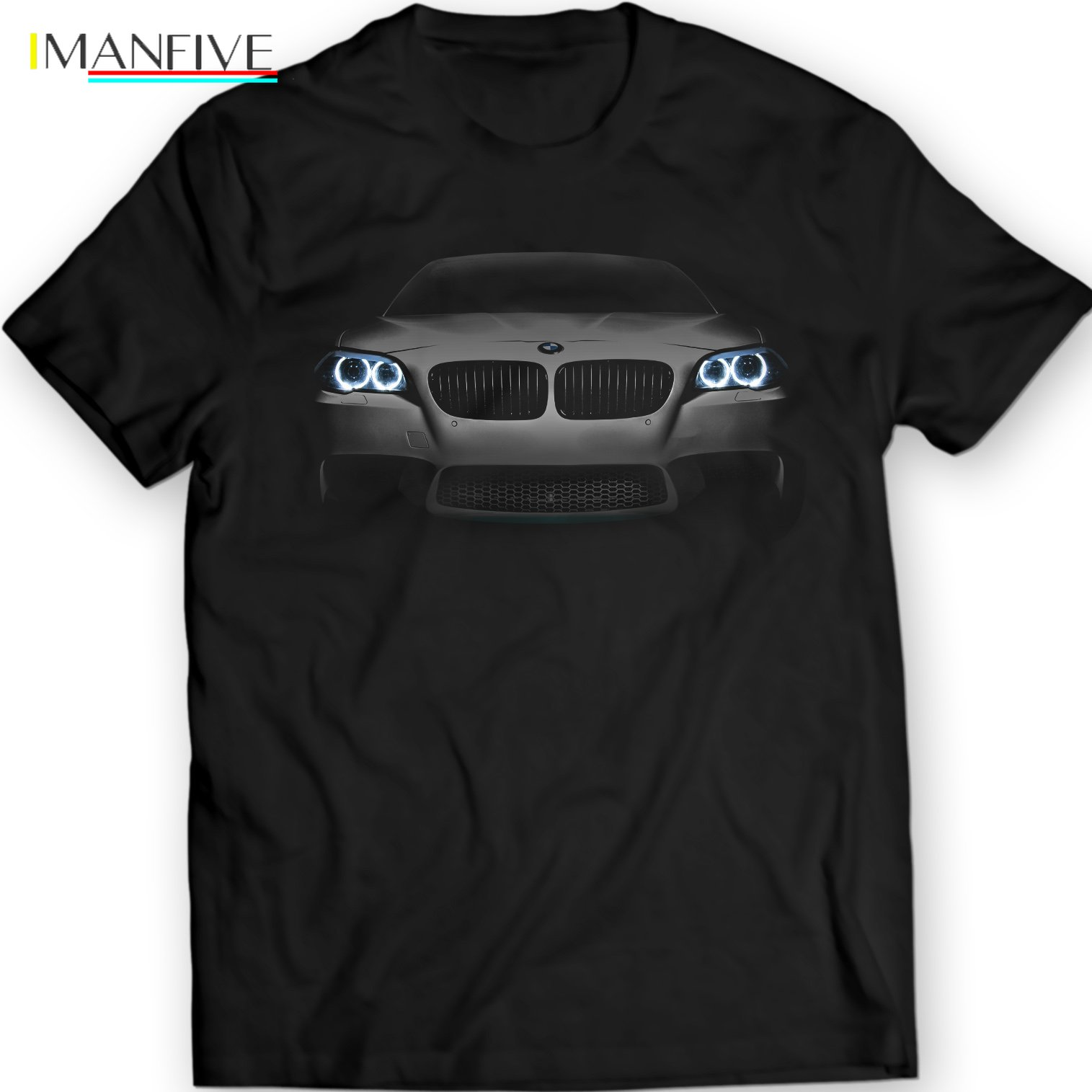 2019 New Cool Tee Shirt Germany Car M5 F10 Black T Shirt Bimmer 5er Angel Eyes power Holiday Gift Birthday T shirt in T Shirts from Men 39 s Clothing