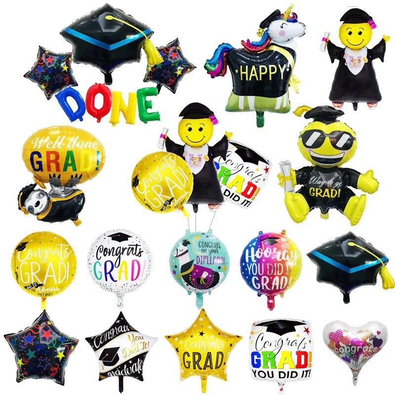 Graduação 2020 globos balões de graduação decoração de festa de formatura ballon parabéns boa sorte balões de folha de formatura