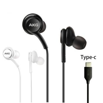 Оригинальные наушники-вкладыши с микрофоном AKG Type-c IG955, проводные наушники для Galaxy note10, samsung, huawei, xiaomi