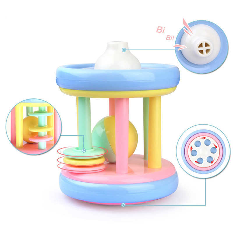 Baby toy Teether Rattle Safe Help Sleep Safe And Non-toxic Early Education Montessori Baby Rattles 0-12 months Toys