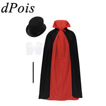 Kids Jongens Meisjes Goochelaar Stage Kostuum Kinderen Wizard Halloween Carnaval Cosplay Role Playing Games Fancy Party Dress Up Pak(China)