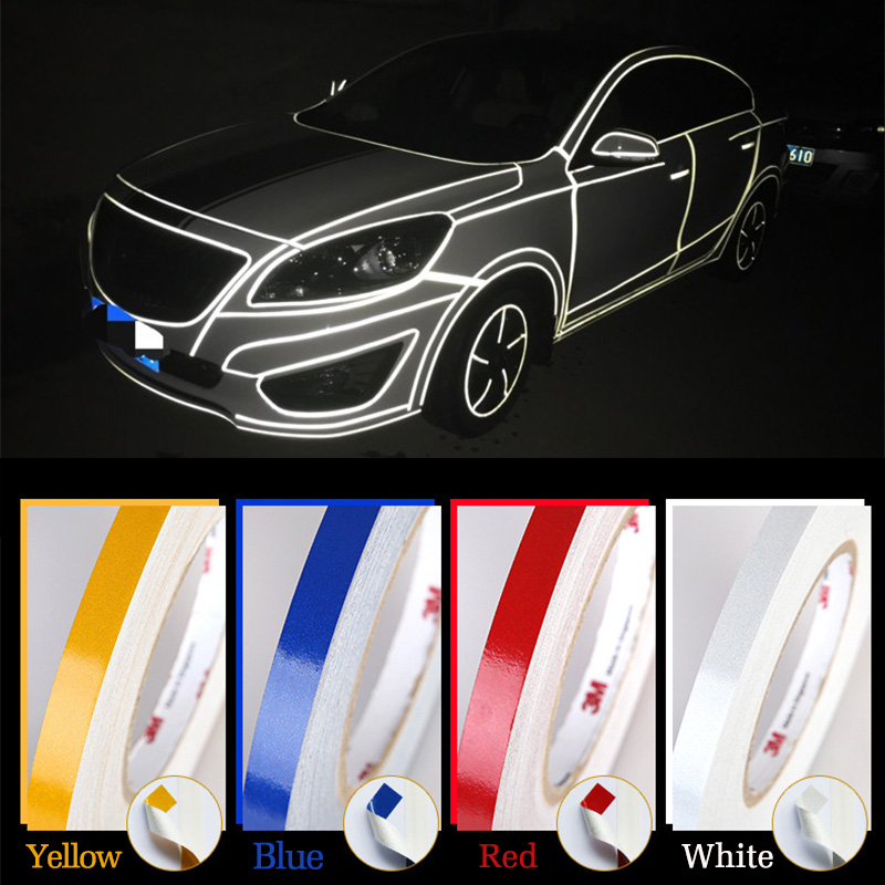 1cm*5m Car stickers Reflective Stickers Adhesive Tape for Mugen Power <font><b>Honda</b></font> Civic Accord CRV <font><b>Hrv</b></font> Jazz car styling <font><b>Accessories</b></font> image