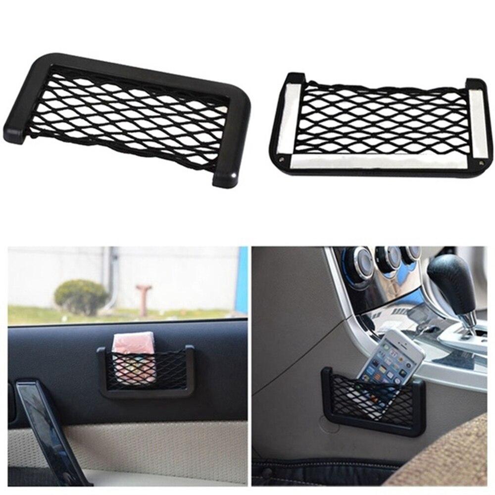 Автомобильная Сетчатая Сумка для мобильного телефона, карман для Audi A1 A3 A4 B6 B8 B9 A3 A5 A6 A7 A8 C5 Q7 Q3 Q5 Q5L