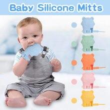 Bebek Molar eldiven Anti-bite yürüyor çiğnemek oyuncak bebek diş kaşıyıcı gıda sınıfı silikon dişlikleri bebek diş çıkarma eldiven 2020 Dropshipping