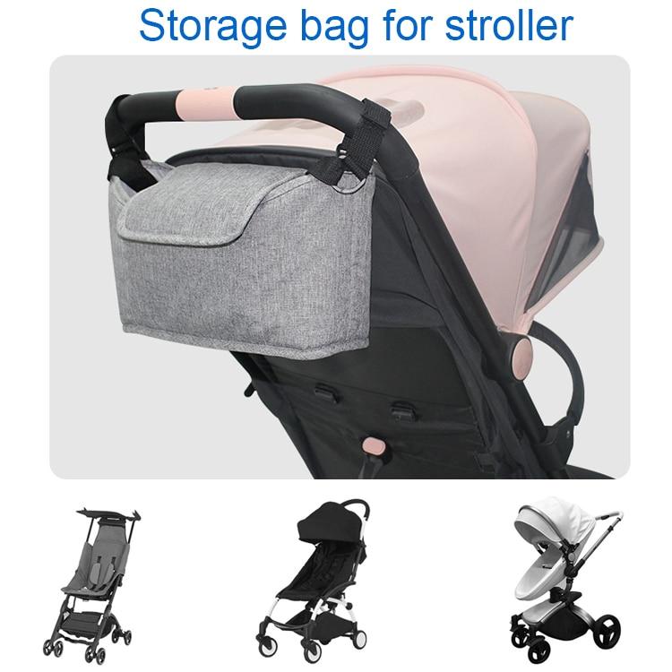 Baby Stroller Accessories Bag Nappy Bag Brand Mummy Bag Hanging Basket Storage Organizer Baby Travel Nursing Bag Bottle Bag
