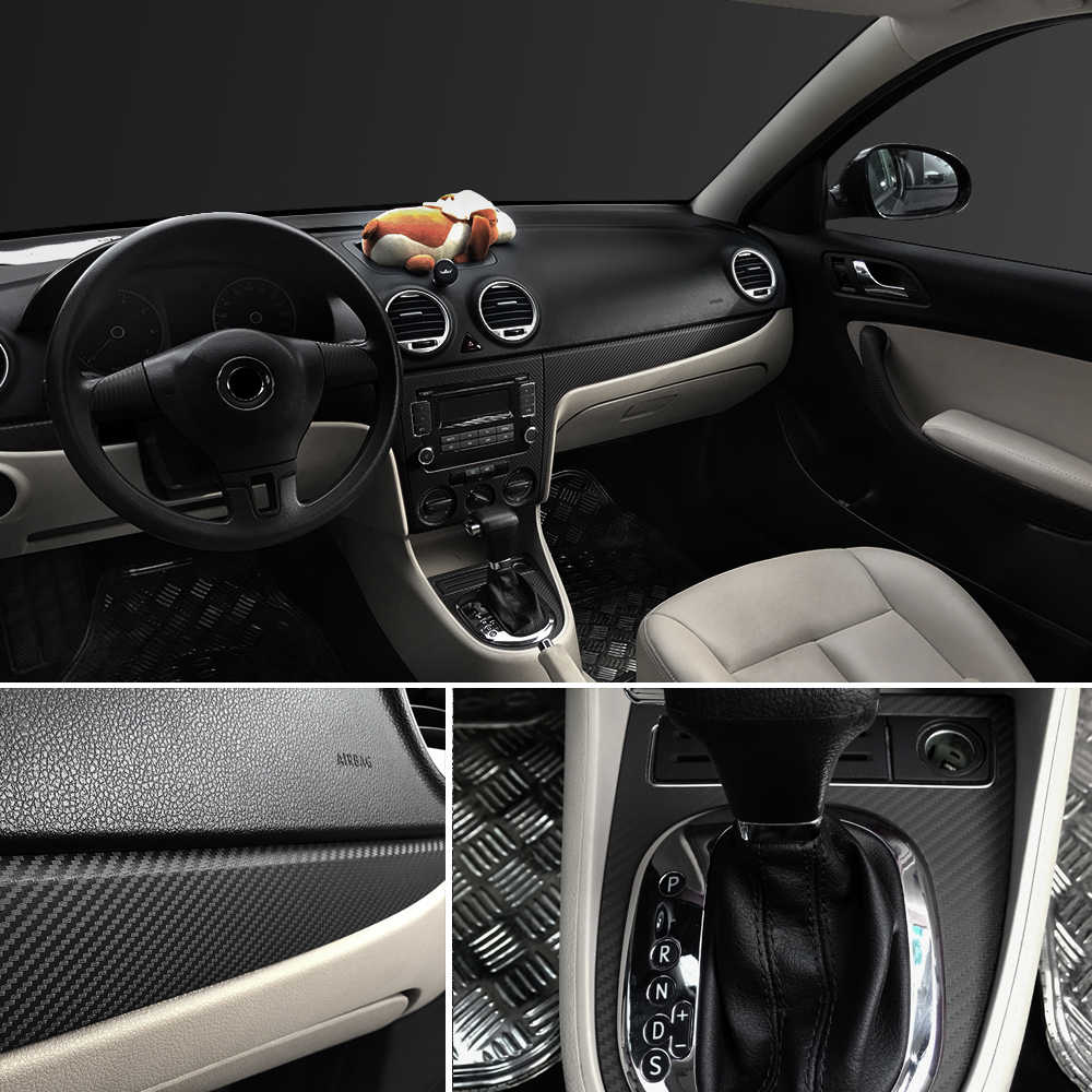 30x127cm 3D 5D voiture en Fiber de carbone vinyle Film autocollant et décalcomanies pour Audi A4 Avant A4 Cabriolet A6L A8L TT TTS toutes les voitures