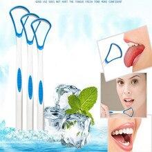 Язык скребок уход щетка очистка поверхность язык безопасность покрытие очиститель полость рта гигиена уход сохранение свежесть дыхание средство