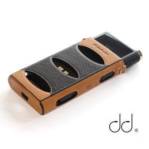 DD ddHiFi C-M15 Genuine Leather Case for FiiO Flagship DAP Music Player M15 with Free Knob Cover Knob-M15 and Lanyard