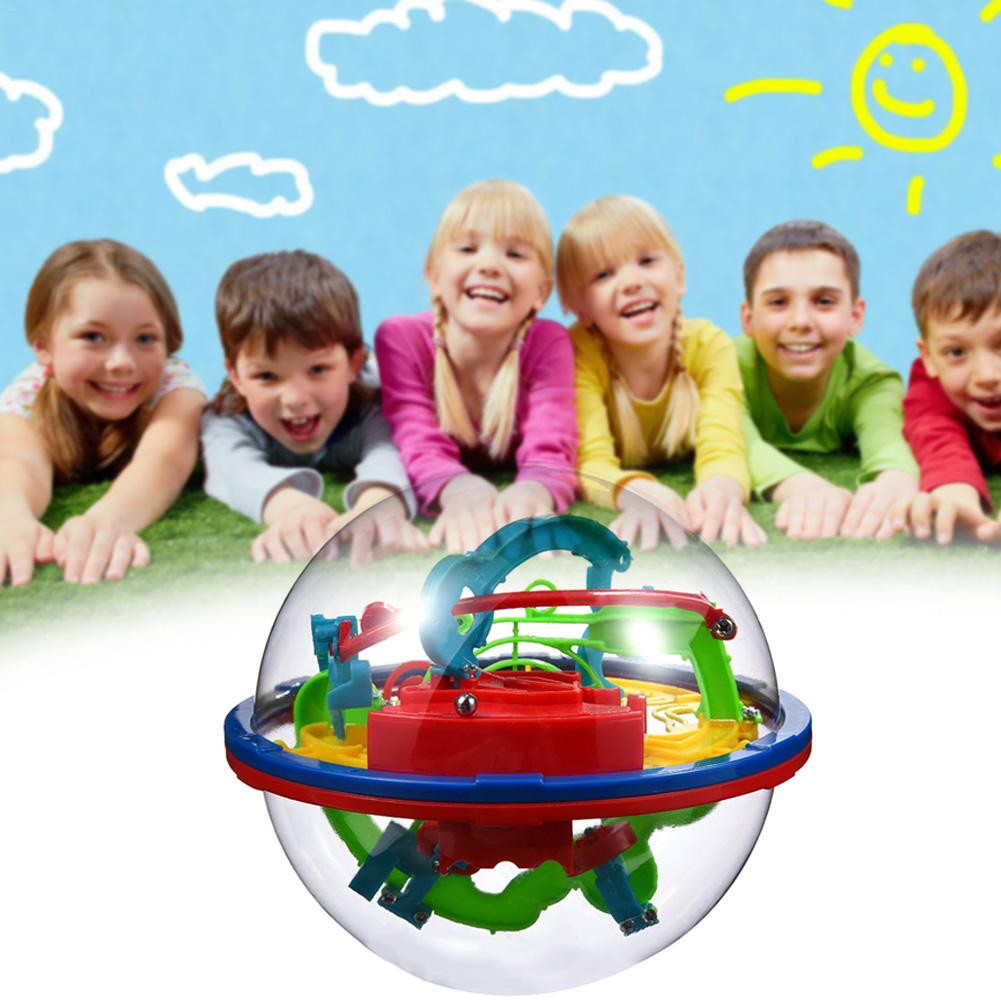Puzzle Game Toys Magic Maze Ball 100 Levels Large 3D Fantastic Intellectual Ball Cubic UFO Maze Ball Early Childhood Educational