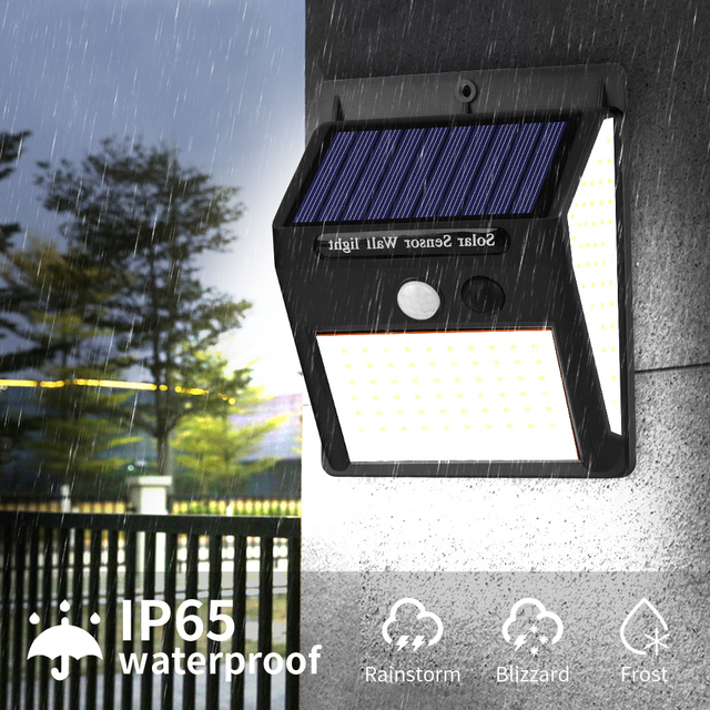 1/2/4pcs 140 LED Outdoor Solar Light PIR Motion Sensor Wall Light Waterproof Solar Lamp Solar Powered Sunlight Garden Decoration 2
