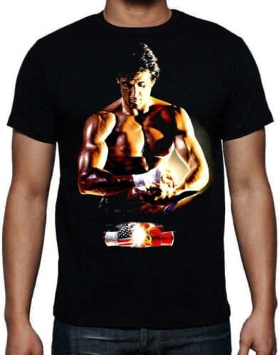 Rocky 4 Boxing Movie USA Russia Fight Gloves Training 80's Action Movie T Shirt image