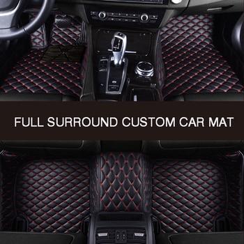 HLFNTF Full surround custom car floor mat For Dacia Sandero Duster Logan waterproof car accessories car styling metal car sticker accessories case for dacia duster logan sandero lodgy pads interior accessories car styling