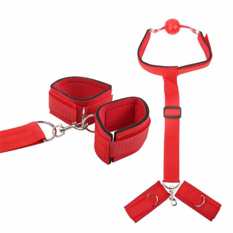 BDSM Bondage Rope Handcuffs For Sex Restraints 발목 커프스 칼라 페티쉬 성인 섹스 토이 For 여성 커플 게임 섹스 제품
