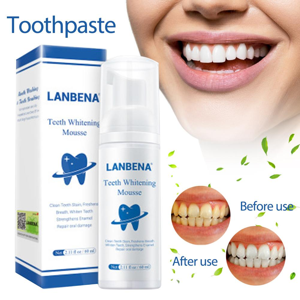 LANBENA Teeth Whitening Essence Oral Hygiene Cleaning Serum Removes Plaque Stains Tooth Disinfection Bleach Tooth Mousse