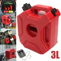 1pc Red Motorcycle 3L Portable Jerry Can Gas Plastic Car Fuel Tank Petrol For ATV UTV Gokart