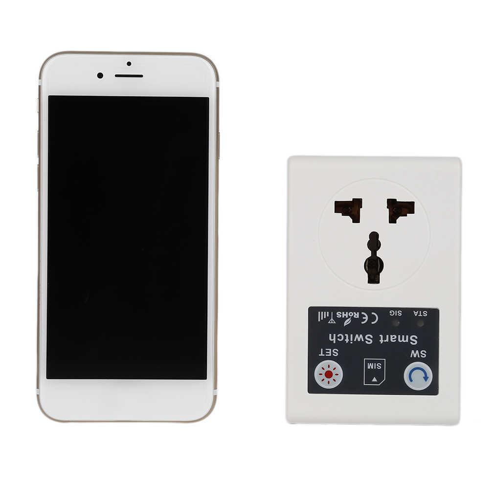 Profesyonel ab 220V telefon RC uzaktan kablosuz kontrol akıllı anahtar GSM soket priz ev için ev aletleri sıcak satış