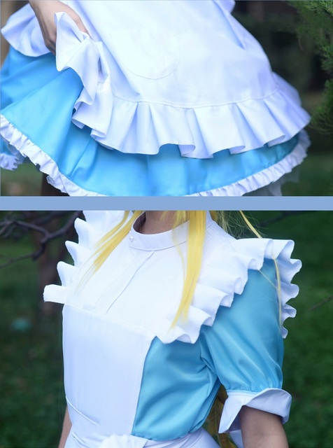 New Anime Sword Art Online Alicization SAO Alice Synthesis Thirty Cosplay Costume Maid Dress Halloween Costumes for Women S-XL 5