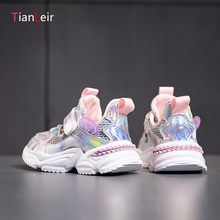 2021 High Quality Children Shoes Breathable Comefortable Kids Sneakers For Girls Fashion Casual Sports Shoes Chaussure Enfant