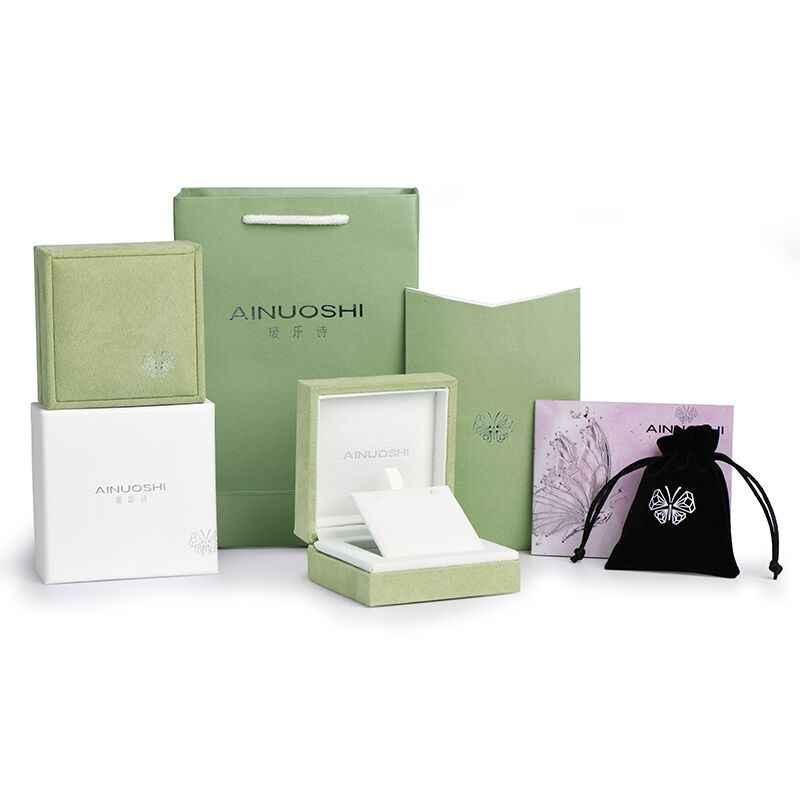 AINUOSHI 1 Uds. Anillo de cuero caja colgante joyería caja de regalo para caja de anillo de boda caja de joyería caja de regalo de exhibición