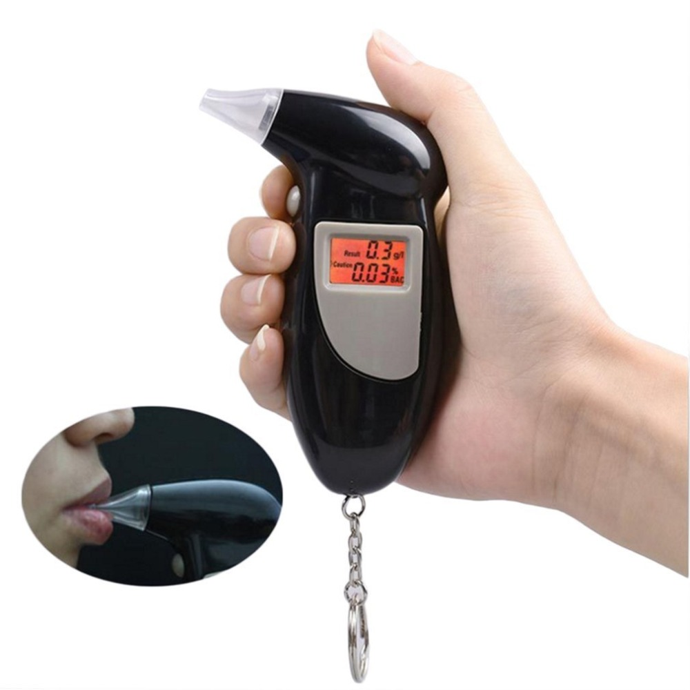Digital Breath Alcohol Tester With Audible Alert Safe Driving With Key Chain Quick Response Alcohol Detector Breathalyzer