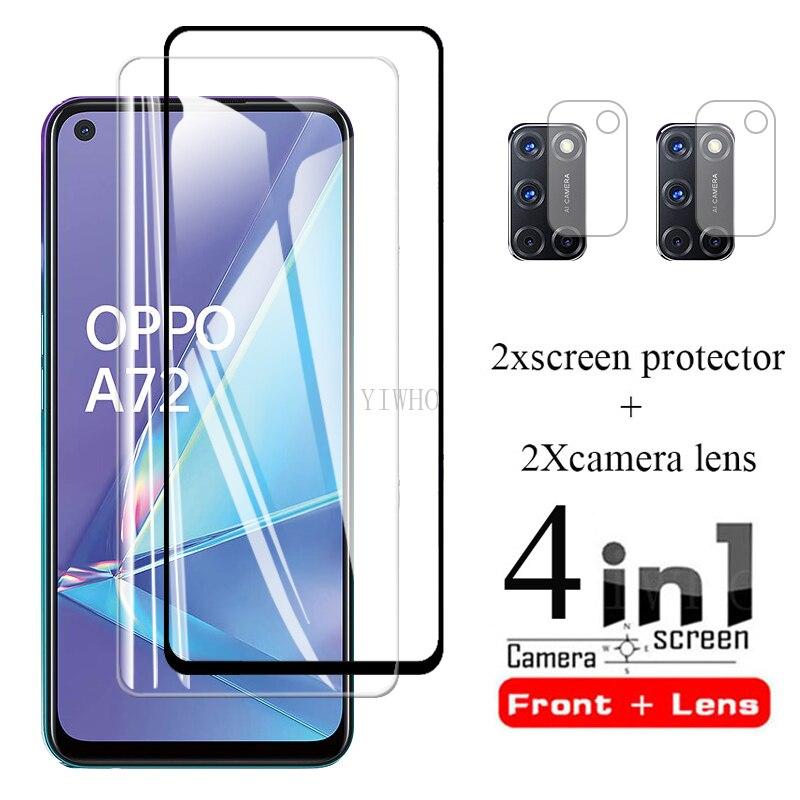Защитное стекло для экрана orro opo a 72, переднее стекло, Защитное стекло для oppo a72 5g oppo a72 6,5 '', пленка для объектива камеры телефона steklo, крышка
