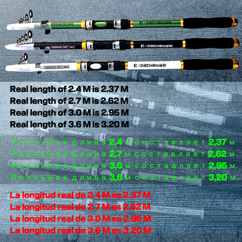 GHOTDA 2.1M -3.6M Carp Fishing Rod feeder Hard FRP Carbon Fiber Telescopic Fishing Rod fishing pole 2