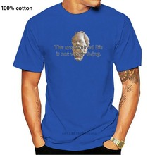 Socrates Quote-예기치 않은 인생은 가치가 없습니다-Thinkershirts & trade; 남성용 반팔 티셔츠 블랙 스타일