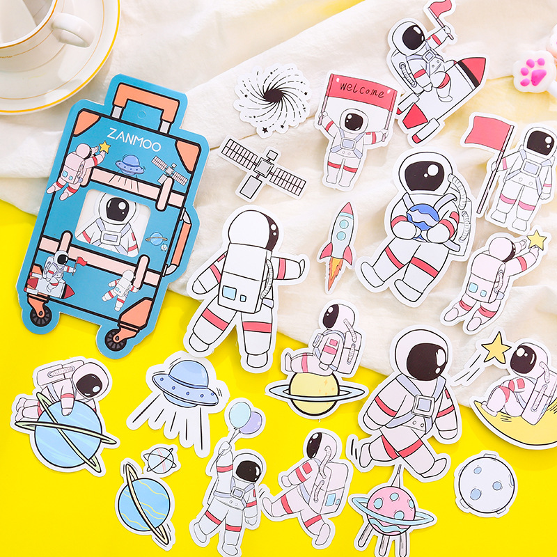 Cute Cartoon Suitcase Series Bullet Journal Decorative Stationery Penguin Stickers Set Scrapbooking DIY Diary Album Stick Lable