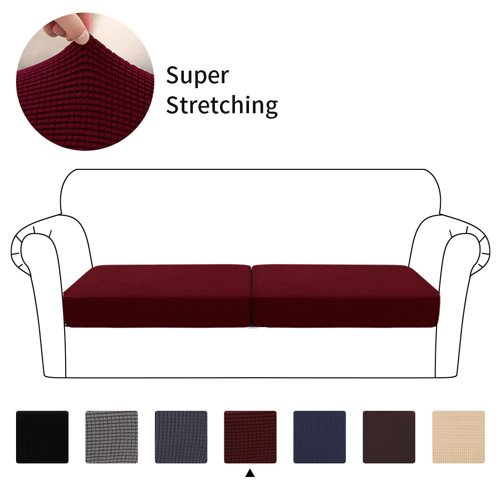 1/2/3 Seater  Waterproof Sofa Seat Cushion Cover Couch Stretchy Slipcovers Protector Elastic Slipcover 2020 Best Selling New