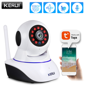 KERUI 720P 1080P Mini Indoor Wireless Security Wifi IP Camera Home CCTV Surveillance Camera 1MP 2MP Tuya Smart Life Night Vision(China)
