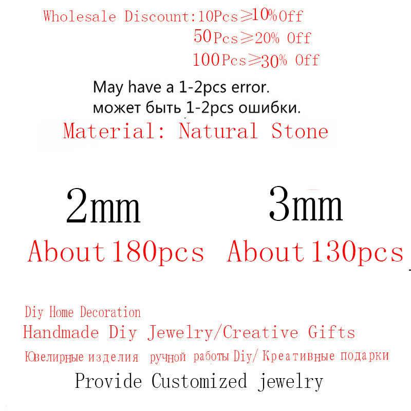 Natürliche Stein Achate Amazonit Granat Türkisen Verkrustete lapis lazuli Runde Lose Perlen für Schmuck Machen DIY Armband Halskette 2mm 3mm