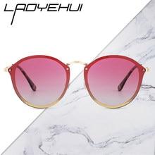 Fashion Women's Decorative Sunglasses Polarized Vintage Round Sun Glasses Girls Driving Eyewear Female Protective Glasse Brand