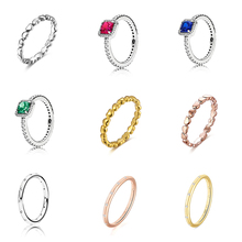 Silver Color Ring Charms s Heart Shape With Big Cz Blue Green Red Color Round Crystal Finger Ring For Women Party Jewelry luxury women s crystal zircon ring red green gem ring round ring valentine s day gift cocktail party jewelry engagement ring