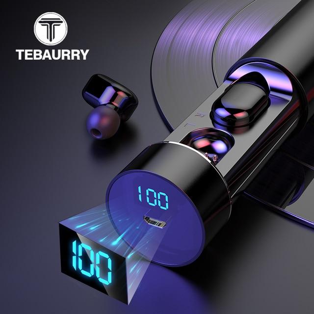 TWS беспроводные Bluetooth наушники, стерео HD беспроводные наушники, мини наушники с сенсорным управлением, музыкальная гарнитура с микрофоном для смартфонов