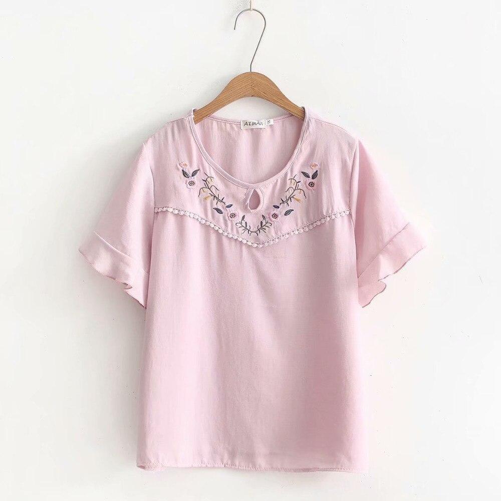 T-shirt en mousseline de soie à col rond à grande taille pour femme t-shirt haut pour femme